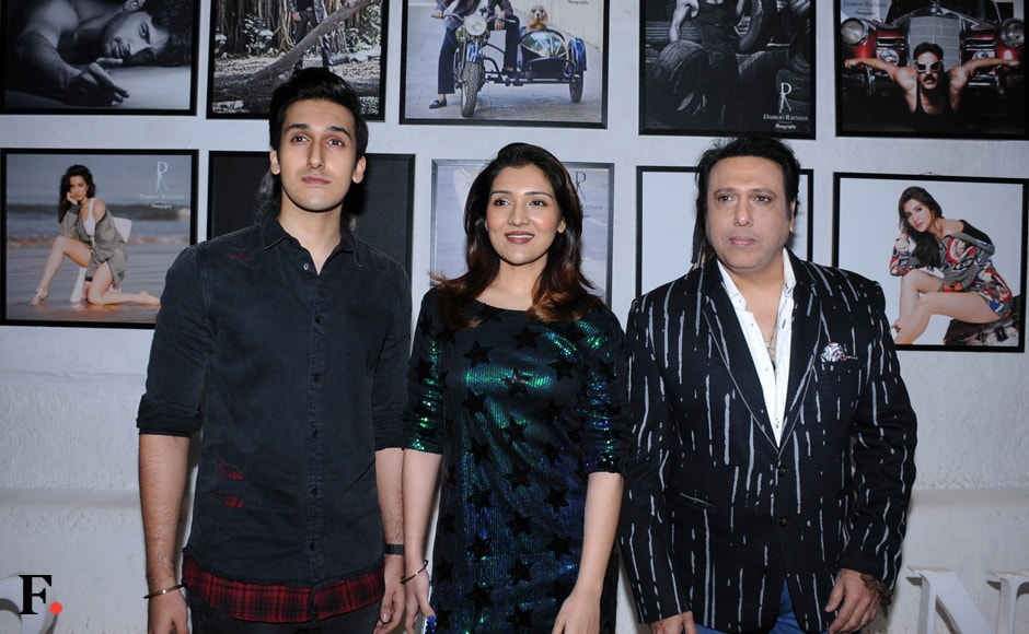 Budding actors Yashvardhan Ahuja and Tina Ahuja with their father, the effervescent Govinda. Sachin Gokhale/Firstpost