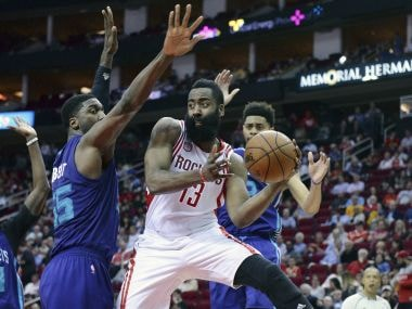 NBA roundup: James Harden rescues Rockets with another triple-double, Cavs sunk by Jazz