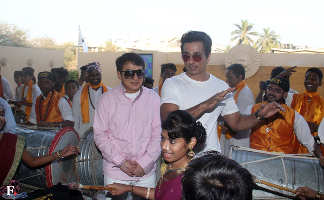 Jackie Chan arrived in India on 23 January and was received by Sonu Sood. Firstpost/Sachin Gokhale