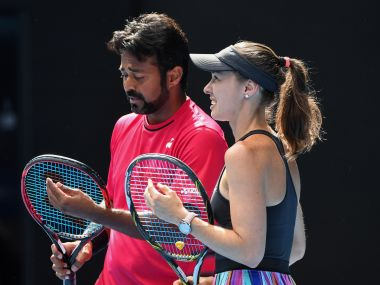 Leander Paes and Martina Hingis crahed out of the Australian Open. AFP