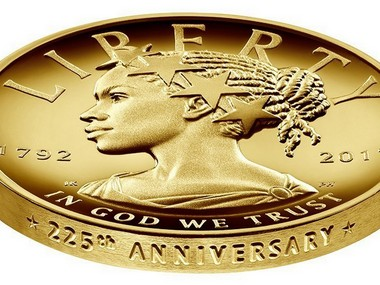 New US gold coin shows Lady Liberty as an African American for the first time