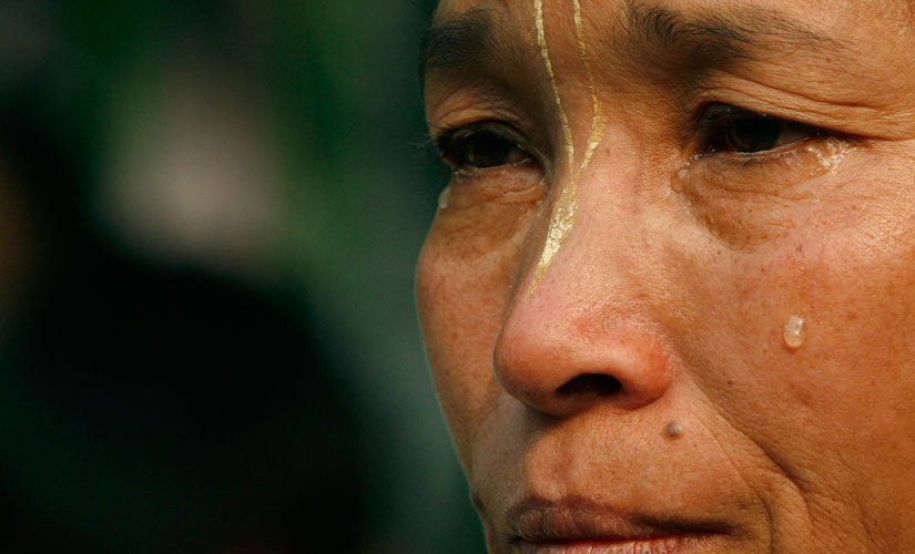 A woman cries during a protest against the Armed Forces Special Powers Act (AFSPA) in New Delhi on 25 January 2008. Reuters