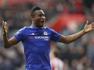 File photo of John Obi Mikel. Reuters