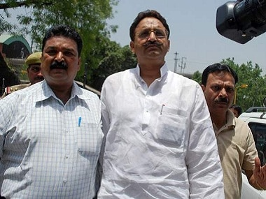 File image of Mukhtar Ansari (centre). PTI