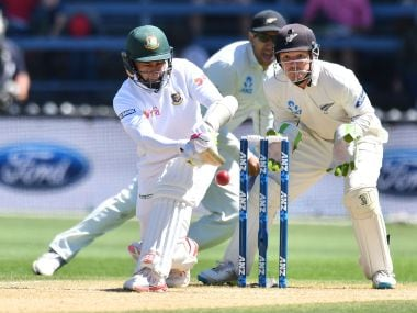 Mushfiqur Rahim in action during Bangladesh's loss to New Zealand in Wellington. AFP