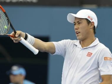 Kei Nishikori during his match against Stan Wawrinka. AP