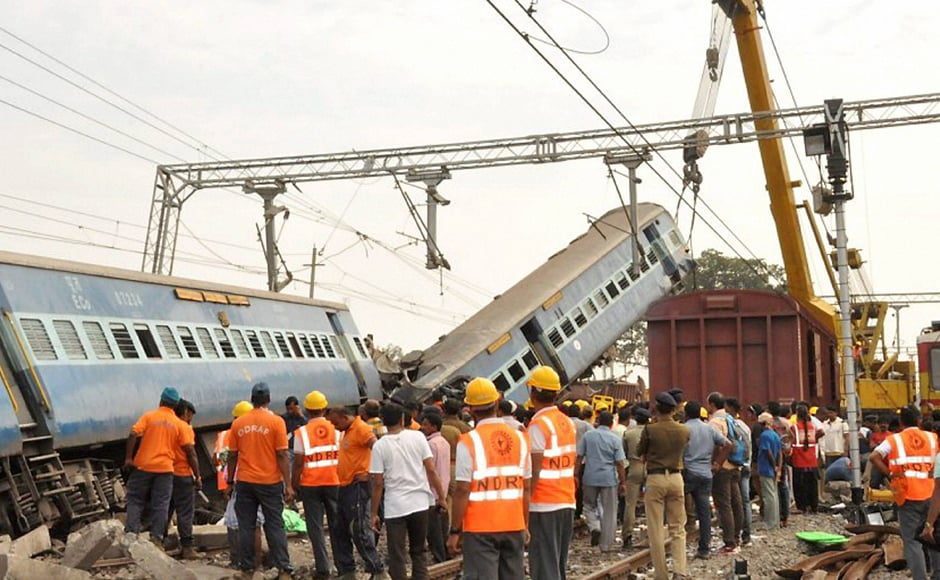 This is the second major rail accident after over 120 passengers were killed and 226 injured, when 14 coaches of the Indore-Patna Express derailed near Pukhraya in Kanpur's Dehat district in the wee hours of 20 November. PTI