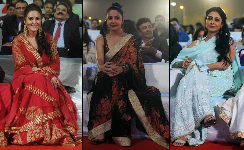 Beauty brigade: Preity Zinta, Anushka Sharma and Tabu. Photos: Sachin Gokhale/Firstpost