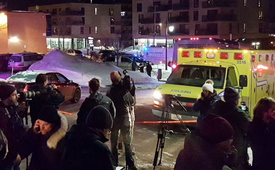The shooting at a Quebec mosque during Sunday night prays which reportedly killed five people was a