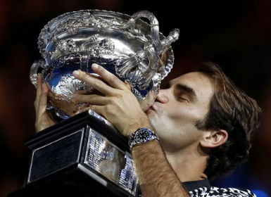 Roger Federer was troubled with an upper leg problem since the second round. AP