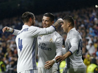 Real took a huge step towards a first La Liga title for five years against an in-form Sociedad. AP