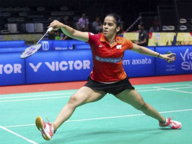 Saina Nehwal in action during her quarter-final clash in the Malaysia Masters. PTI