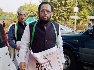 Trinamool Congress MP Sultan Ahmad during a protest march by the party MPs towards the Prime Minister's residence in New Delhi on Wednesday, a day after party leader Sudip Bandyopadhyay's arrest in an alleged corruption case. PTI