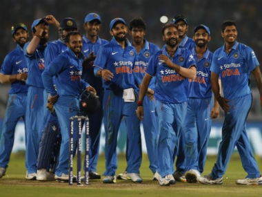 The Indian team in the ODI series against New Zealand. AP