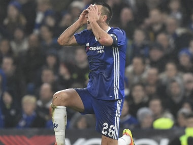 Chelsea skipper John Terry reacts after getting sent off against Peterborough United. AFP