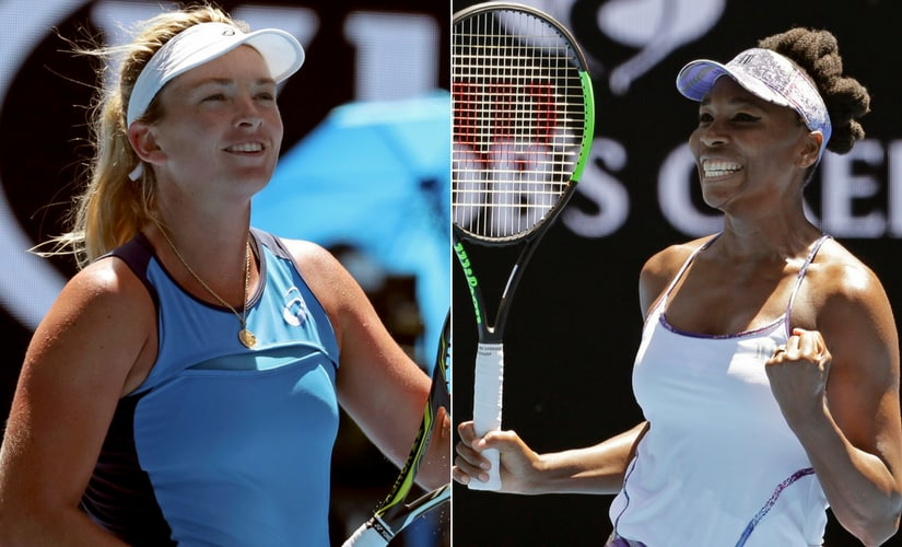 The first semi-final is an all-American affair between CoCo Vandeweghe and Venus Williams. AP