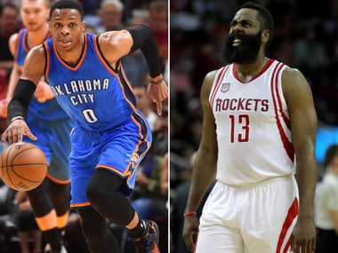 The MVP race could boil down to Russel Westbook and James Harden. Reuters