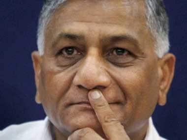 File image of Union minister VK Singh. PTI