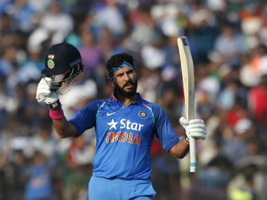 Yuvraj Singh blasted England bowlers for a 150 at Cuttack. AP