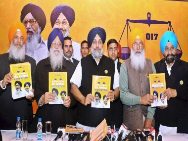 Shiromani Akali Dal President and Punjab Deputy Chief Minister Sukhbir Singh Badal released the party manifesto on Tuesday. PTI