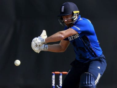 Jonny Bairstow bats during a warm-up match against India A in Mumbai. AP