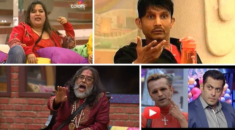 Bigg Boss controversies over the years, featuring Dolly Bindra, KRK, Imam Siddique and Swami Om