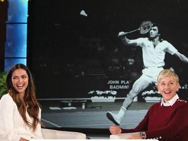 Deepika Padukone with Ellen DeGeneres