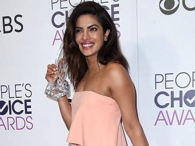 Priyanka Chopra poses in the press room with the award for favorite TV drama actress at the People's Choice Awards at the Microsoft Theater on Wednesday, Jan. 18, 2017, in Los Angeles. (Photo by Jordan Strauss/Invision/AP)