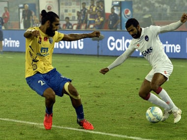 Sandesh Jhingan (L) said he is elated to have joined Bengaluru FC. Getty Images