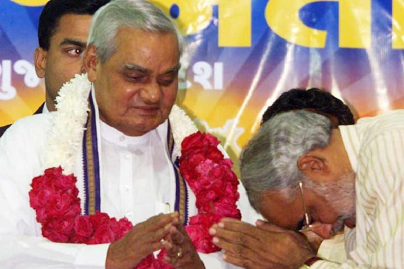 It was Vajpayee who had asked Modi to take over as Gujarat chief minister. PTI Photo