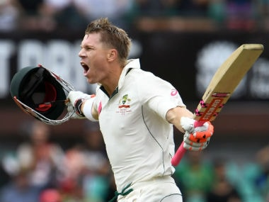 File photo of David Warner. AFP