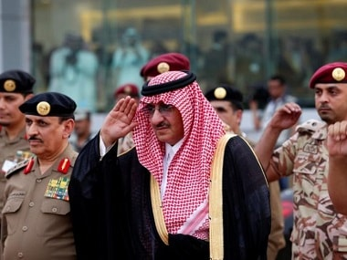 Saudi Crown Prince Mohammed Bin Nayef, the interior minister, arrives to a military parade in preparation for the annual Haj pilgrimage in the holy city of Mecca September 5, 2016. REUTERS/Ahmed Jadallah.