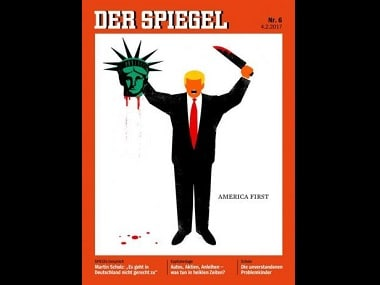 German magazine's controversial cover depicts Donald Trump beheading Statue of Liberty