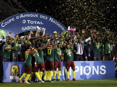 Vincent Aboubakar's late strike seals Cameroon's fifth AFCON title. AP