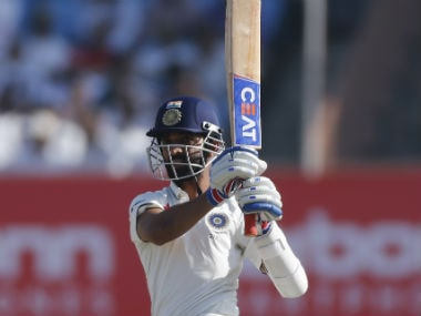 Ajinkya Rahane in the series against England. AP