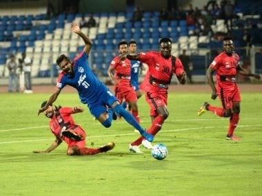 Bengaluru FC were held to a 1-1 draw by Minerva Punjab. Twitter/ @ILeagueOfficial
