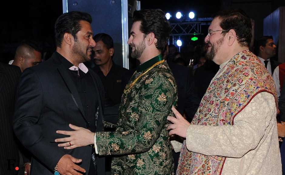 From Salman Khan, Katrina Kaif, the evergreen Rekha to Sophie Choudry, Sooraj Barjatiya and many others, the film fraternity showed up in strength to wish the newlyweds the very best. Image: Sachin Gokhale/Firstpost