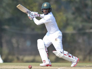 Imrul Kayes bats during the two-day warm-up match against India A. AFP