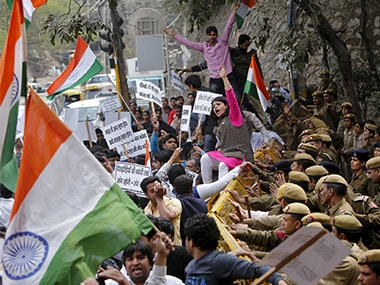 JNU admission policy protest: Delhi cops calls stir peaceful,  university disagrees