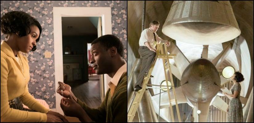 Janelle Monae portrays Mary Jackson, Aldis Hodge portrays her husband Levi; Oleg Krupa plays Zalinski, Jackson's boss Image Courtesy: Youtube