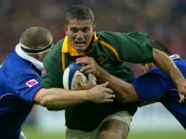 File photo of legendary Springbok scrum-half Joost van der Westhuizen. AFP