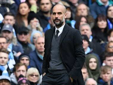 File photo of Manchester City manager Pep Guardiola. AFP