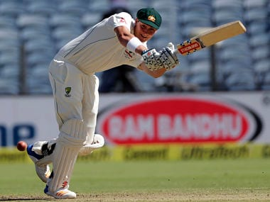 Matt Renshaw in action on day one of the first Test against India. AP