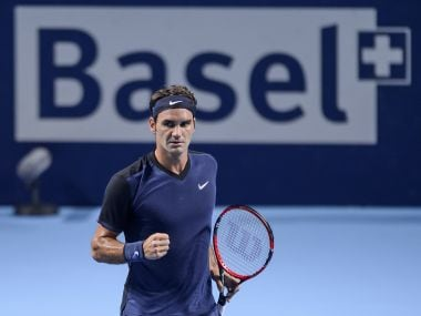 File photo of Switzerland's Roger Federer at the Swiss Indoors tournament. AFP