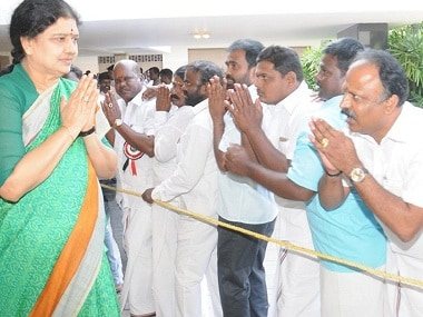Tamil Nadu Chief Minister VK Sasikala. Image courtesy: Twitter/@AIADMKOfficial