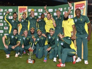 South Africa thrash Sri Lanka to go top of ICC ODI rankings. AFP