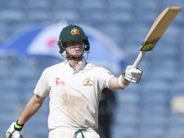 Steve Smith brought up his 21st Test fifty in 93 balls on Day 2 of the Test. AFP