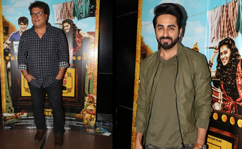 Tigmanshu Dhulia and Ayushmann Khurranna were also seen at the screening. Directed by Amit Roy and produced by Shoojit Sircar and Crouching Tiger Motion Pictures, Running Shaadi is a romantic-comedy about an online platform that helps couples elope.