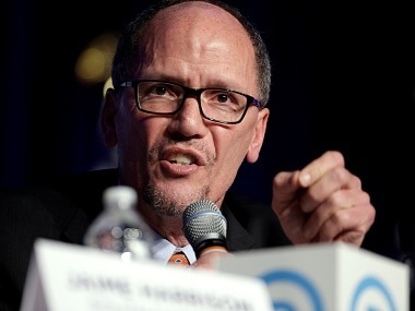 Former Secretary of Labor Tom Perez was elected as the new DNC chairman on Sunday. Reuters