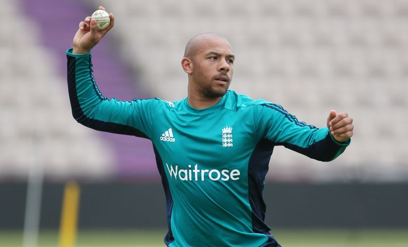 England's Tymal Mills during nets. Reuters